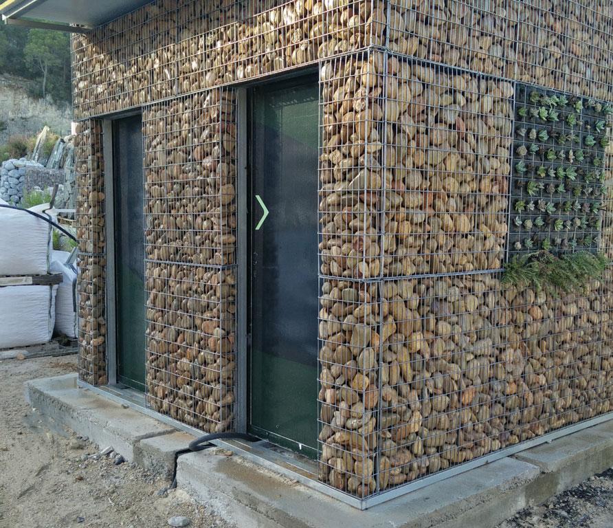 gaviones decorativos de piedra paredes medida Gavion fachada premontado, revestimiento fachadas - Arisac