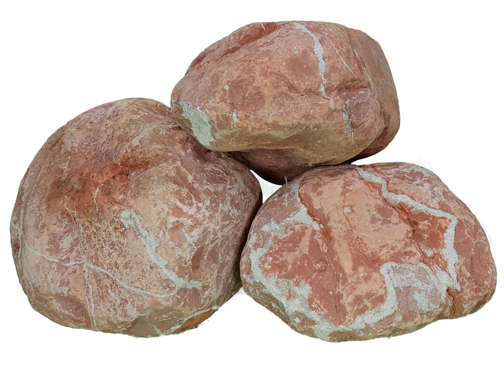 Gros galet rouge for Gros galet decoratif