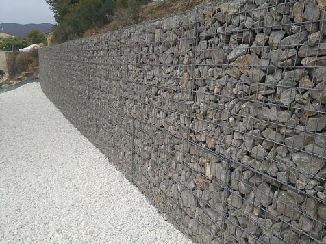 Gabion wall
