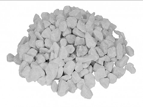 Pure white gravel